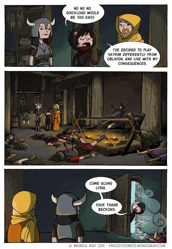 Funny skyrim comics
