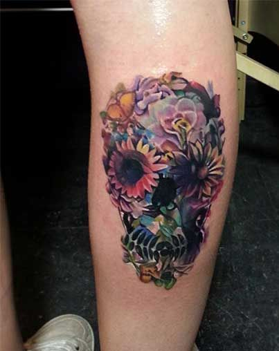 Fuckin' awesome calf tattoos for the tattoo lover!