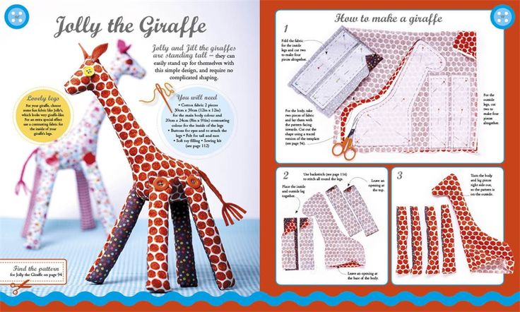 Jolly the Giraffe from Crafty Creatures by Jane Bull (DK Books)