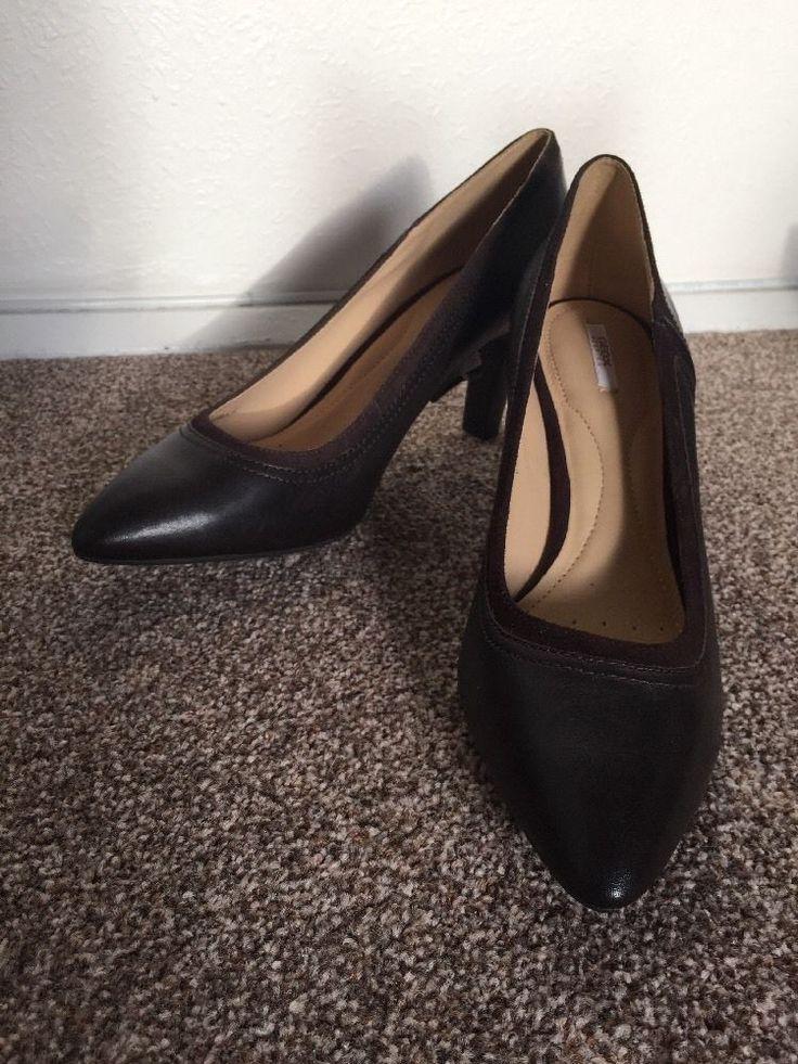 GEOX RESPIRA LATHER ladies shoes UK7-7.5 EU41 BNWOB RRP£98 Dark Brown