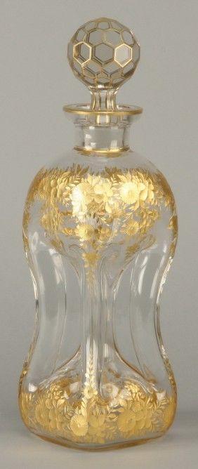 2: 19th c. Moser art glass decanter : Lot 2
