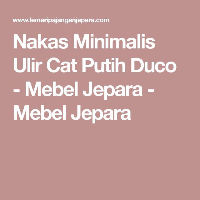 Nakas Minimalis Ulir Cat Putih Duco - Mebel Jepara - Mebel Jepara