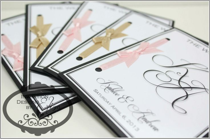 Order of Service Designs  {Wedding} Pink, White & Gold Theme www.facebook.com/InvitationDesignsByEliza