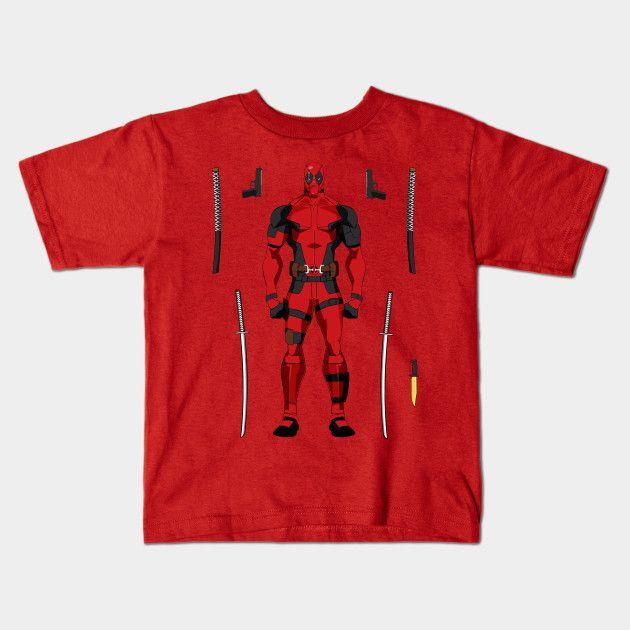 Deadpool Merc Action Figure Young T-Shirt