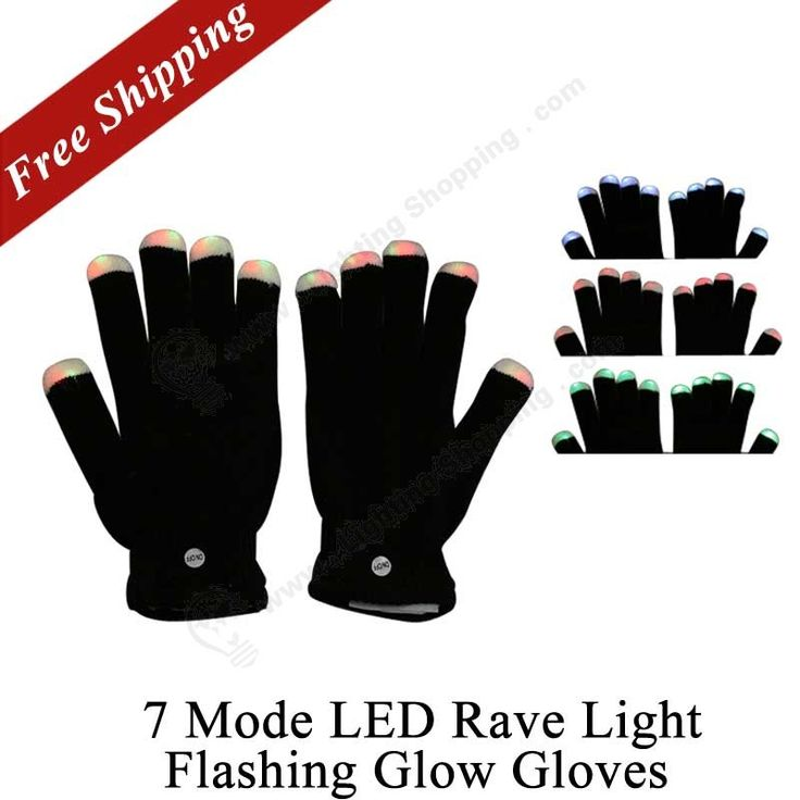 Creative cute item >>> #Finger #Lighting, #LED #Rave Light, 7 Mode, Flashing Glow Gloves.  http://www.lightingshopping.com/7-mode-led-rave-light-finger-lighting-flashing-glow-gloves.html