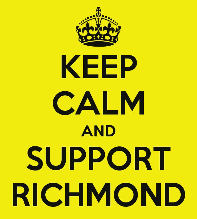 There is no keeping calm while supporting the Tigers. You're killing me Richmond! I want the win more than you do.