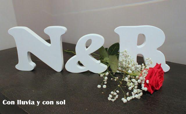 Decoración infantil personalizada y letras decorativas: letras decorativas