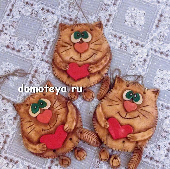 Saltdough Cat. Коты из соленого теста