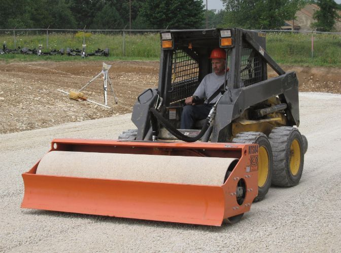 MBW vibratory roller attachment for skid steers