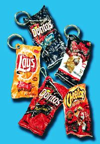 Swag/trade items? Chip Bag Shrinkies: Shrink your chip bags to less than half their size, then use them as a bookmark or keychain. Polymer chemistry fun!