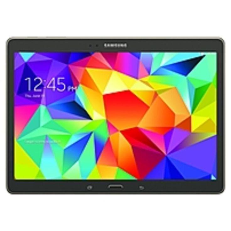 A Samsung Galaxy Tab S SM-T800NTSAXAR Tablet PC - Samsung Exynos 5 Octa 1.9 GHz Quad-Core Processor + 1.3 GHz Quad-Core Processor - 3 GB RAM - 16 GB Storage - 10...