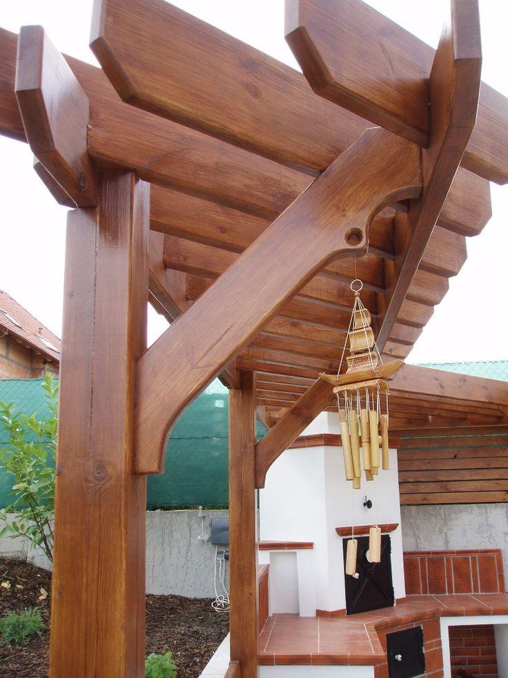 Pergola s posezením detail - Garden furniture Prag - Custom Woodworkes - www.stoho.cz