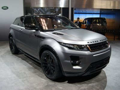 The Range Rover Evoque Victoria Beckham Special Edition featuring matt grey paint and rose-gold accents