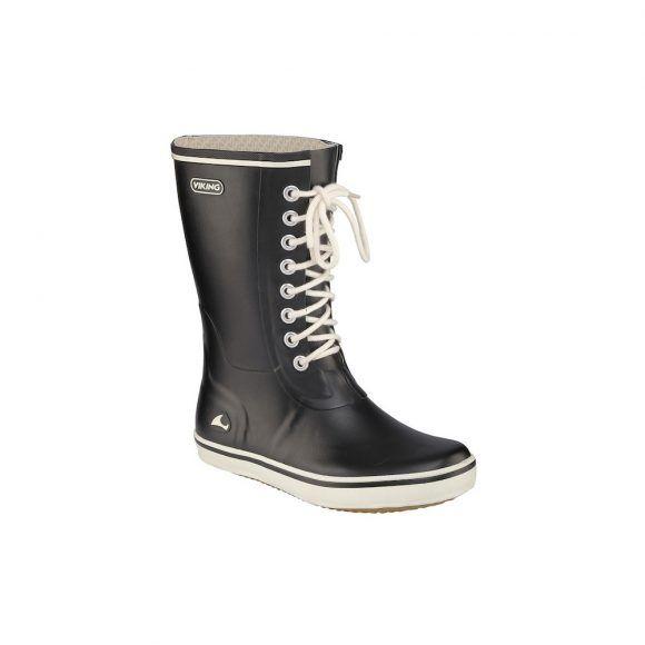 Viking Footwear Retro light mid tall gumboot Black - MK Nordika