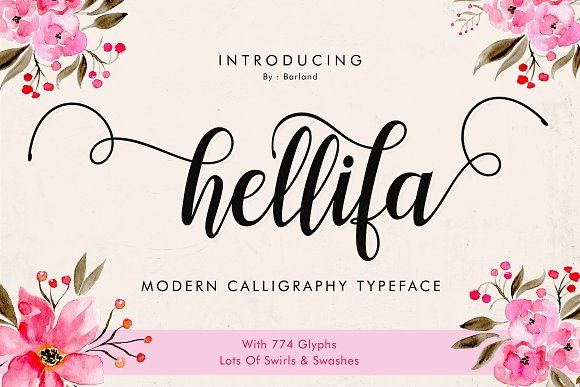 Hellifa Script - 20% OFF by Barland on @creativemarket
