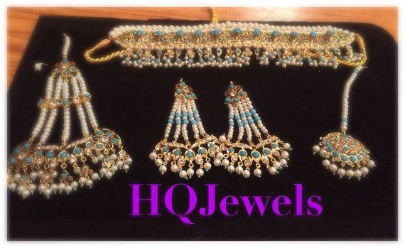 Hyderabadi Indian choker set Wedding Jewelry Indian by HQJewels