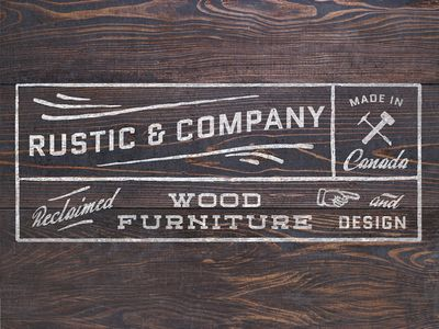 "Chris like this, but I really don't like all the busy boxes for a ""logo""... maybe branding but way too much for a logo. He does like the way the font is a little faded / rustic, that I can agree w/"