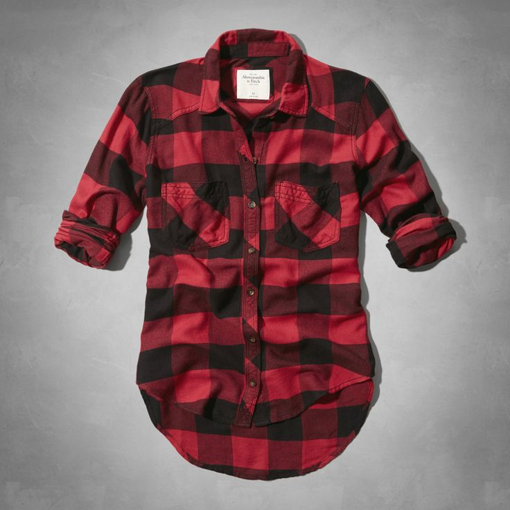 Red Womens Flannel Shirts