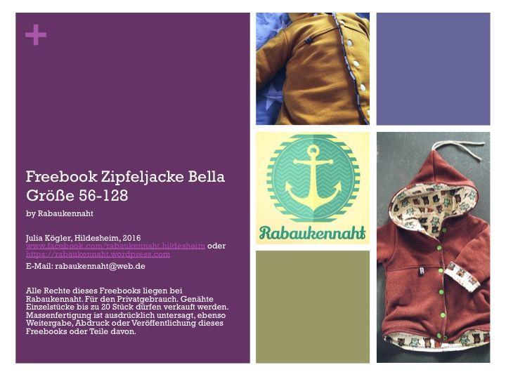 Freebook Zipfeljacke Bella in den Größen 56 bis 128