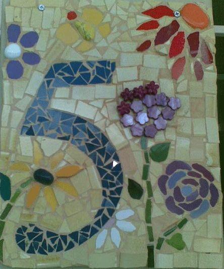 I'm thinking mosaic address plaque...