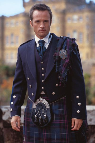 Classic Scottish Wedding Kilt. I want the hubbs to wear one in honor of the McDanal heritage when we renew our vows..and he loves the idea. :)