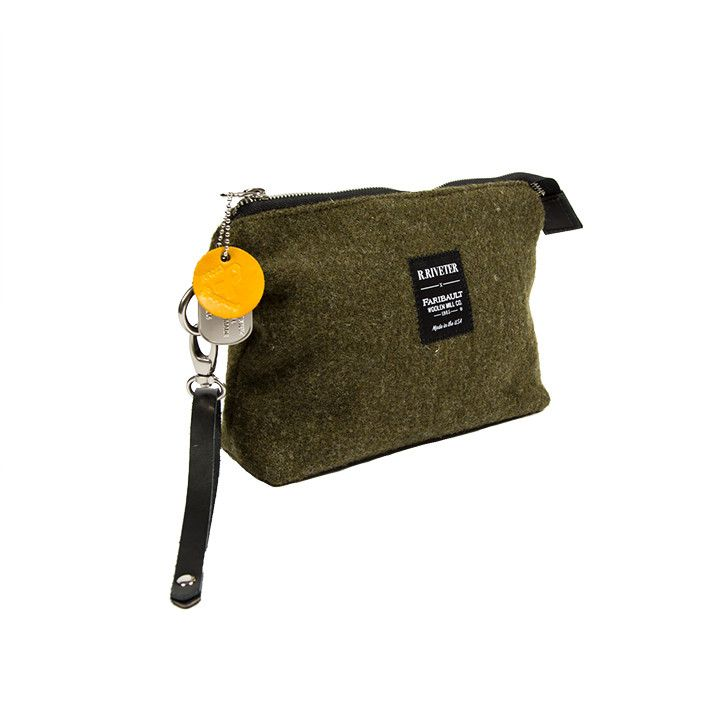 R. RIVETER ANNE GREEN POUCH - GREEN