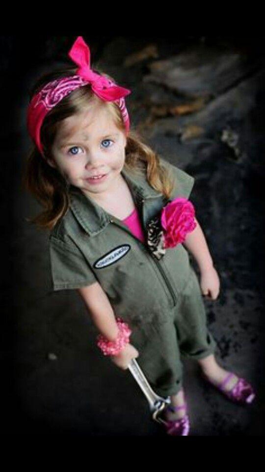 Adorable! Toddler girl mechanic