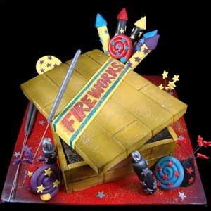 fireworks Cake | Firework Box Cake | Jane Asher Party Cakes | Celebration Cakes ...