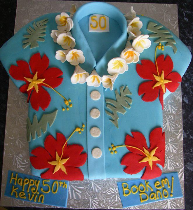 Hawaiian shirt. Birthday cake idea...                                                                                                                                                                                 More