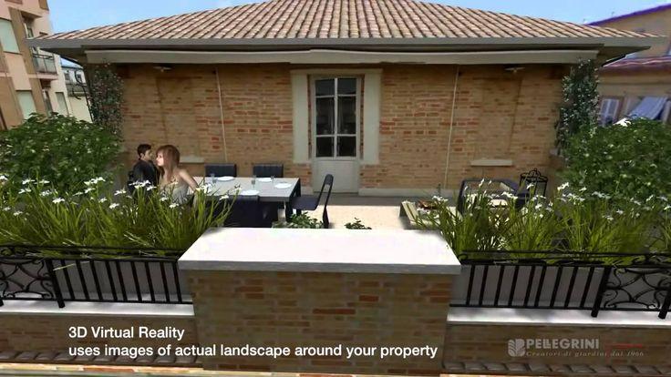 """Pellegrini Giardini """"Progettazione del giardino con Real 3D garden design"""""""