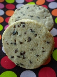 Whole Wheat Cookies with Cocoa Nibs -- sounds healthy, if you overlook the two sticks of butter.