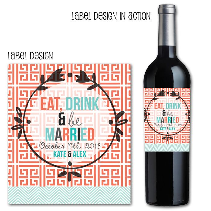 Eat Drink And Be Married Wine Labels Wedding Wine Labels: 17 Best Images About Wedding Invites, Save The Dates, Wine