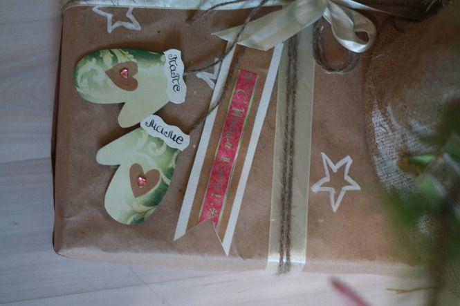 Christmas gifts, wraps, kraft paper, DIY