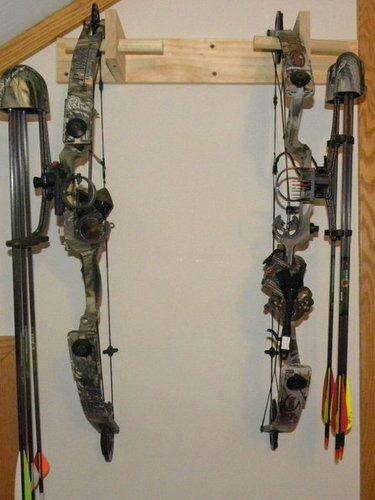 how to make a bow rack a lot of DIY  projects with very good instructions and photos