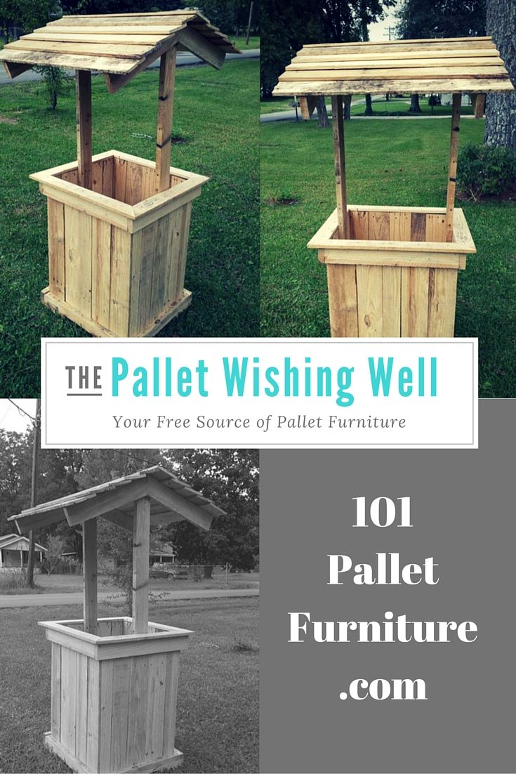 Wishing Well Out Of Pallets In 2019 Wishing U A Well Of WISHES Diy Outdoor Wood Projects