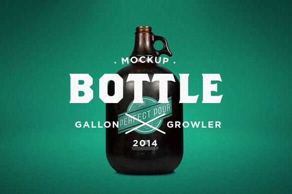Gallon Growler Mock-Up by Palm Street Creative on Creative Market