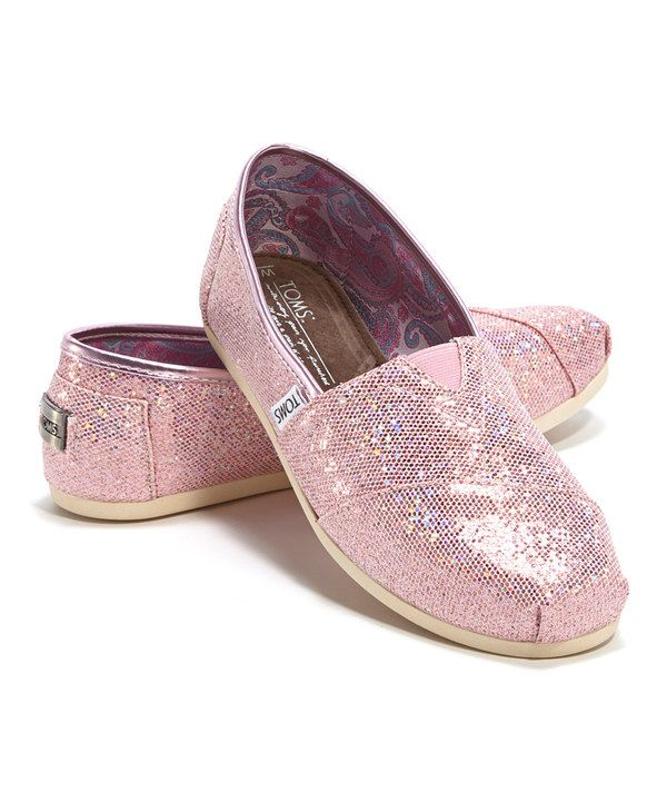 Look what I found on #zulily! Pink Glitter Classics by TOMS #zulilyfinds