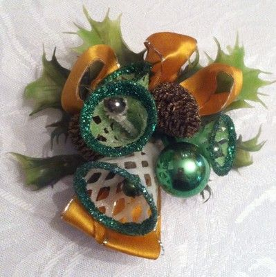 Vintage Christmas Corsage I remember my Mother and Grandmother wearing these. And I wore them also edpecially to church