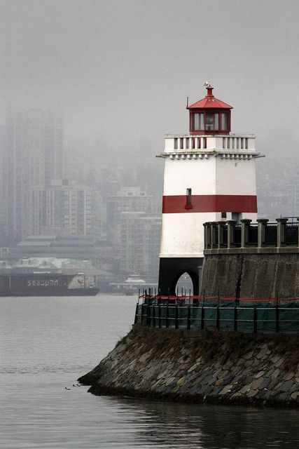 Stanley Park Lighthouse Coal Harbour, Vancouver, British Columbia
