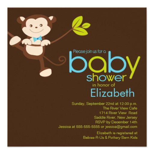 68 best baby shower invitations ideas images on pinterest shower cute monkey boy baby shower invitation filmwisefo