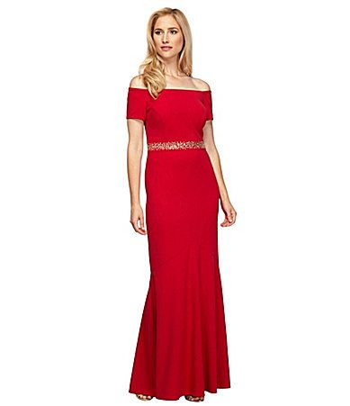 Champagne Beaded Evening Gown Dillard's