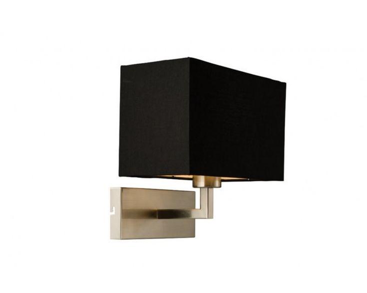 Endon 61603 Picollo E27 Wall Light With Black Shade