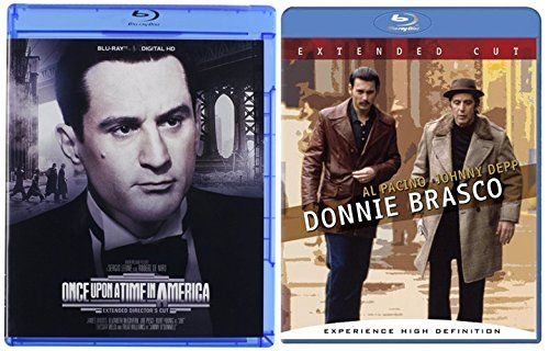 Donnie Brasco (Extended Cut) & Once Upon A Time In America [Blu-ray] 2 Pack Mob Crime Movie Set