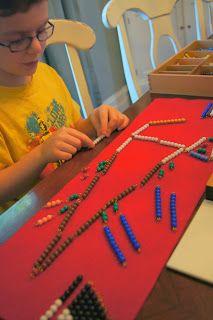 """Making Montessori Ours"": Montessori Addition Snake Game - Elementary"