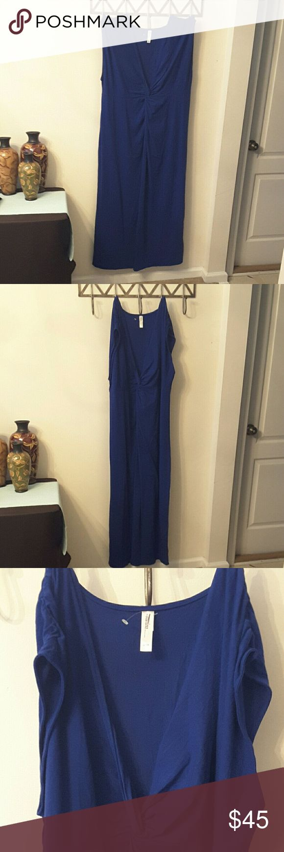 Royal Blue Maxi Swim Cover up Dress Royal Blue, stretchy, maxi dress, coverup, NWOT, bought but was little too big... I wear 18w/20w Lane Bryant Dresses Maxi