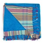 Blue and Teal Beach Towel