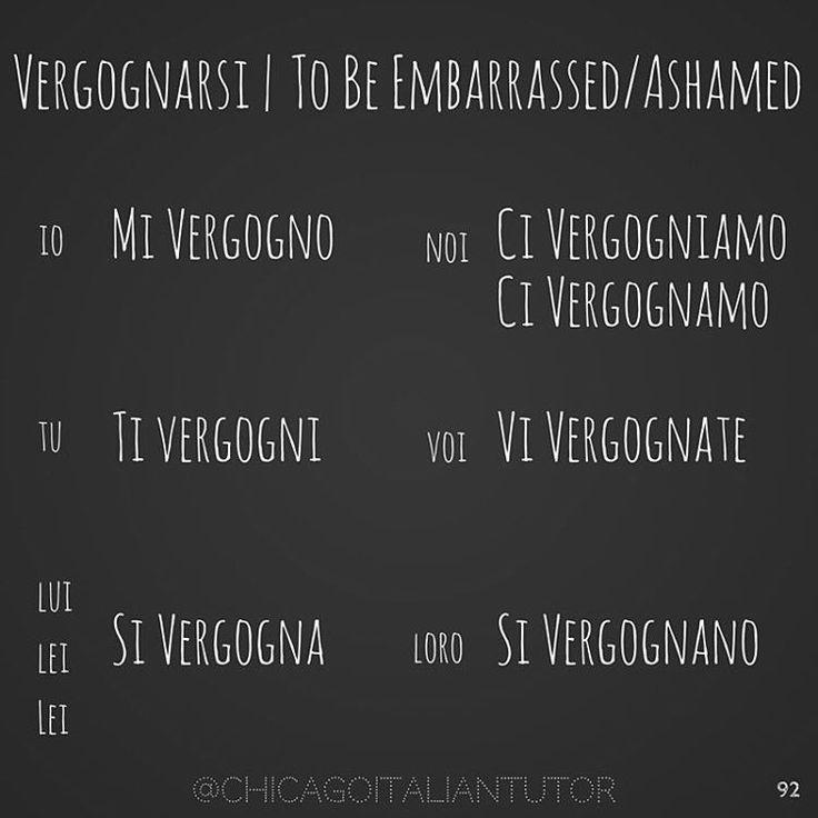 vergognarsi | to be embarrassed, to be ashamed