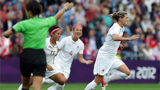 A sad loss today...the women all played amazing - so proud to be canadian - Canada's woman's soccer team in semi-final.