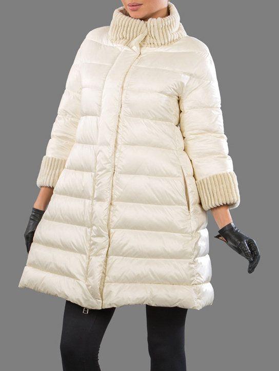 Пуховик женский Naumi WF14005 молочный/ivory