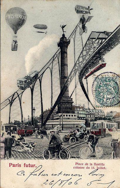 Place de la Bastille et Colonne  1906
